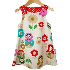 Babushka 'Jessie' Pinafore Dress - clothing
