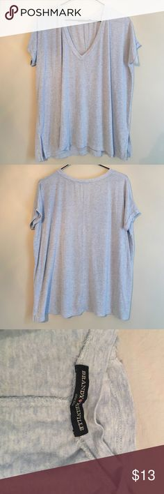 Brandy Melville Blue T Shirt Blue Brandy Melville t shirt in excellent condition - one size Brandy Melville Tops Tees - Short Sleeve
