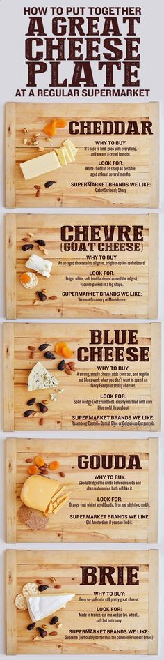 You can get everything you need to make an awesome party cheese plate at any old supermarket. Heres what to look for. Check out more Pictures like this! Visit: http://foodloverz.net/