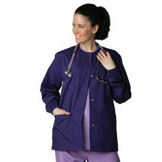 Universal Basics by Adar Women's Round Neck Warm-Up Solid Jacket