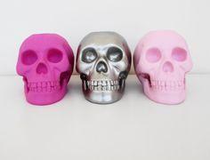 Skulls, Set 3, Skull, Candle Holder, Skull Decoration, Skull Sculpture, Skull Housewares