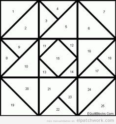 Card Trick pattern for quilt card.Color this to bring out hidden dimensions and shapes in the pattern Barn Quilt Designs, Barn Quilt Patterns, Paper Piecing Patterns, Patchwork Patterns, Pattern Blocks, Quilting Designs, Patchwork Quilting, Tutorial Patchwork, Painted Barn Quilts