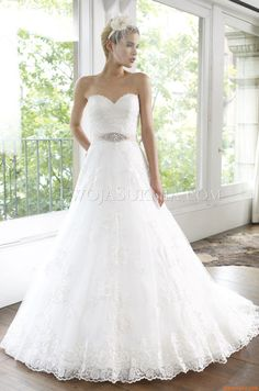 Elegant Sweetheart Princess Court Train Wedding Dresses China Moonlight H1218 Spring 2013