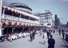 Café Kranzler und Kaiser-Wilhelm-Gedächtniskirche, Kurfürstendamm, Charlottenburg, um 1963