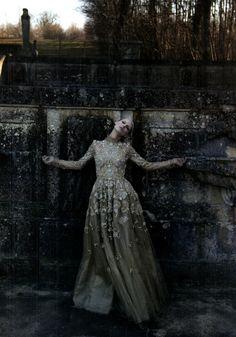 """valentino haute couture"" by deborah turberville #story #fairytale #magic #darkness #princess #evil #dream #goddess #dramatic #retro"