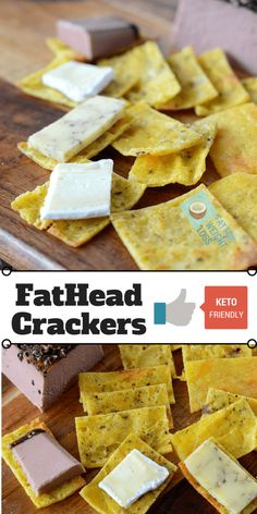 Ketogenic Fathead Crackers are basically the fathead cheese pizza base rolled out thin and cooked until crispy. Only 3 ingredients!