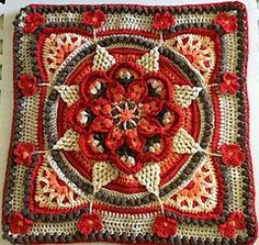 Ravelry: The Amanzi Block/Throw pattern by Jen Tyler Crochet Squares Afghan, Crochet Quilt, Crochet Cushions, Crochet Blocks, Crochet Art, Crochet Crafts, Crochet Projects, Granny Squares, Crochet Curtains
