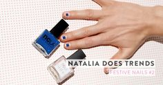 A more modern, clean take on a festive mani by our make-up artist Natalia. Find the tutorial on Amazingy Magazine!