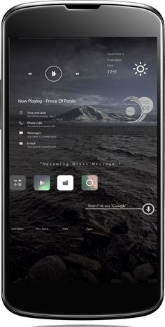 Glassed Android Homescreen by gulrez2000 - MyColorscreen