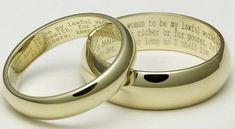 Such a beautiful idea: wedding bands with your vows engraved inside.
