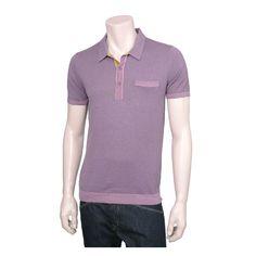 Kenzo Pink Jersey Knit Polo Shirt