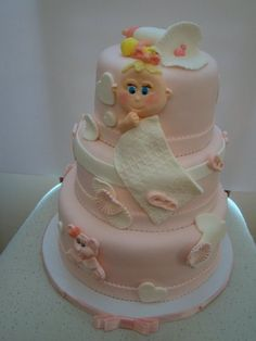 Baby Shower Cake Cake by colormehappy
