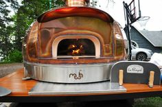 Wood Fired Oven | Copper | Beautiful | Le Panyol | Mobile Oven