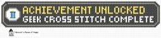 hancock's house of happy: Achievement Unlocked! Cross Stitch Chart