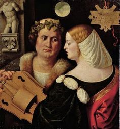 1529 attr Giovanni Cariani, Poet with Young Woman