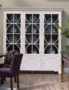 Beautiful China Cabinet with oval design