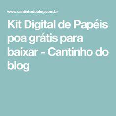 Kit Digital de Papéis poa grátis para baixar - Cantinho do blog