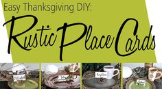 Easy Holiday Decor: DIY Thanksgiving Place Card Holders | Hm etc.