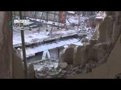 الشبيحة الاسدية تقصف بالهاون عند الساعة القديمة المنظمات الدولية والهلال...