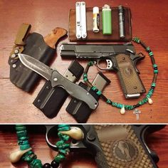 A real EDC gun has some holster wear on it. Urban Survival, Survival Gear, Tactical Survival, Survival Shelter, Bushcraft, Bug Out Kit, Edc Tactical, Tactical Life, 1911 Pistol