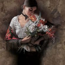 Lee Bogle - Summer Fragrance I Artist Proof Hand Enhanced Giclee On Canvas Native Art, Native American Art, American Artists, Guache, Oil Painters, Beautiful Artwork, Female Art, Art Images, Bing Images