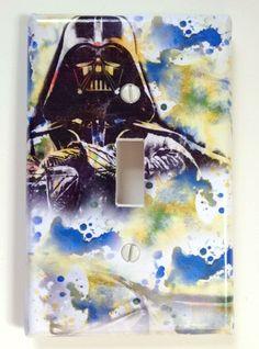 Darth Vader Star Wars Art Decorative Light Switch Plate Cover by idillard