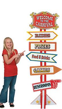 Fun Express Big Top Circus and Carnival Directional Sign feet Tall Cardboard Stand up) Party Decor Carnival Signs, Carnival Decorations, Kids Carnival, School Carnival, Carnival Themes, Carnival Food, Carnival Activities, Backyard Carnival, Creepy Carnival