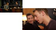 """Watch Chris Martin and Jimmy Fallon performance of David Bowie's """"Life on Mars? Definitely awesome cover of Coldplay's Chris Martin and Jimmy Fallon on The Tonight Show Monday. Jimmy Fallon et Chris Martin rendent hommage à. by mensquare . Bowie Life On Mars, Coldplay Chris, Chris Martin, Tonight Show, Jimmy Fallon, David Bowie, Singing, Watch, Couple Photos"""