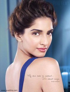 The gorgeous Sonam Kapoor looks absolutely splendid wearing a Meher & Riddhima evening gown for a L'Oréal Paris ad shoot! Bollywood Girls, Indian Bollywood, Bollywood Actors, Bollywood Celebrities, Bollywood Fashion, Pakistani, Beautiful Bollywood Actress, Most Beautiful Indian Actress, Beautiful Actresses