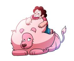 Image from http://pre00.deviantart.net/e6ac/th/pre/i/2014/329/7/4/steven_universe___steven_and_lion_by_nopplesaregreat-d87o8vt.png.
