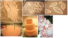 lace flowers  http://freeweddingprojects.blogspot.com.au/2011/06/fondant-lace-wedding-cake-by-at-second.html#more
