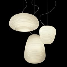 RITUALS 1 - Suspension Verre Satiné Blanc Ø24cm Foscarini