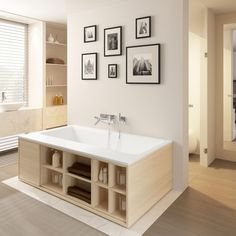 Small corner baths, hoof: selection of 20 models - shower Small Corner Bath, Minimalist Bathroom, Shower Tub, Double Vanity, Future House, Bathtub, Home, Design, Brussel