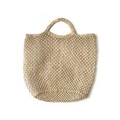 Hand Woven Jute Macrame Market Bag Natural