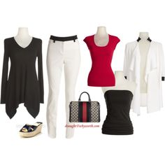 """black & white"" by donnavaught on Polyvore"