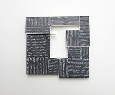 Jessica Turrell Brooch: Field Plan #2, 2015 Vitreous enamel, copper, silver, stainless steel 9 x 9 x 1.8 cm
