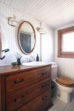 Fresh Dark Cherry Bathroom Cabinets