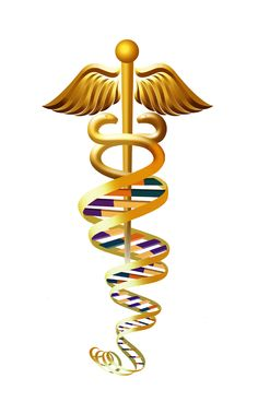 DNA Caduceus Staff