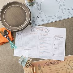 Download Free Thanksgiving Placemats and a Trivia Quiz