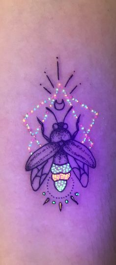 UV neon ink tattoo ideas