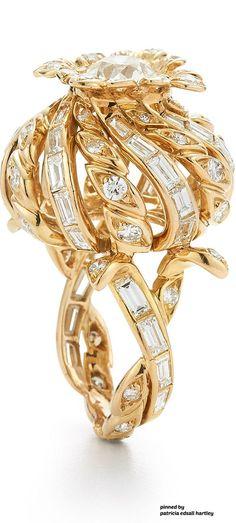 Fred Leighton Diamond Thistle Ring