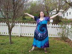 Tie Dye Dress -XL, 2XL, 3XL- Plus Size- River Tie Dye