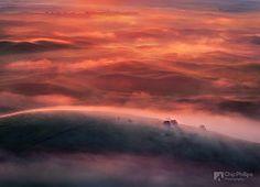 frozen bubbles Abraham Lake Alberta | Foggy Sunrise Palouse (Chip Phillips) Tags: usa fog sunrise washington ...