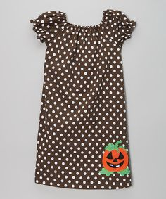 Black & White Polka Dot Pumpkin Dress - Infant & Kids #zulily #zulilyfinds