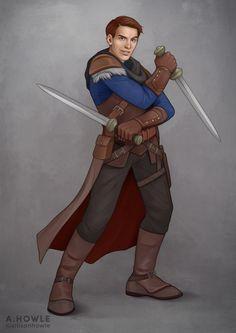 ArtStation - D&D Character Commission - Kariz the Arcane Trickster, Allison Howle