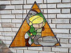 Link ~ Legend of Zelda ~ Stained Glass ~ Tiffany ~ Geeky ~ ArrowGlass ~ Toon Link