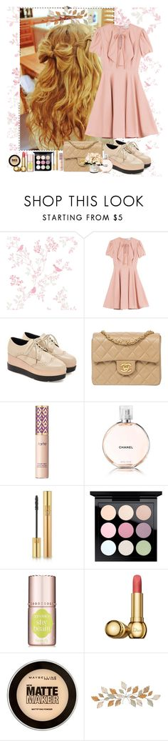 """""""-  doll"""" by a-shaykhina ❤ liked on Polyvore featuring RED Valentino, Chanel, tarte, Yves Saint Laurent, MAC Cosmetics, Christian Dior, Maybelline and Creative Displays"""