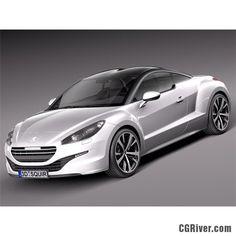 Peugeot RCZ 2013 - 3D Model