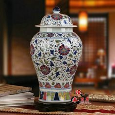 Chinese Qing Dynasty Ancient home Porcelain Vase Ginger jars Blue and White temple jar Ceramic vase Jingdezhen blue ceramic vase-in Lamp Covers & Shades from Lights & Lighting on Aliexpress.com | Alibaba Group