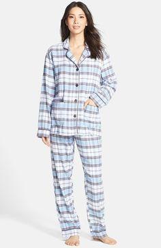 PJ Salvage Plaid Flannel Pajamas available at Flannel Pajamas, Plaid Flannel, Pyjamas, Pjs, Pajama Set, Pajama Pants, Neck Massage, Collar Top, Lounge Pants